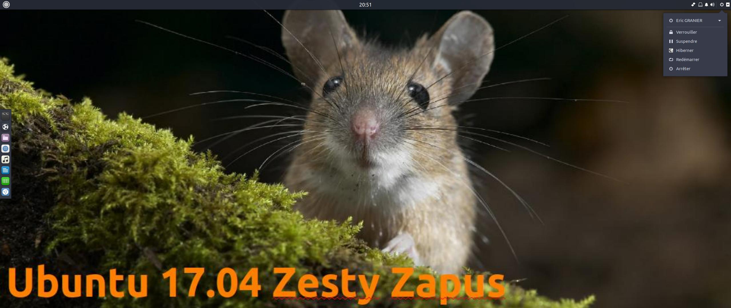 Ubuntu 17.04 Zesty Zapus «Le Zapus Piquant !»